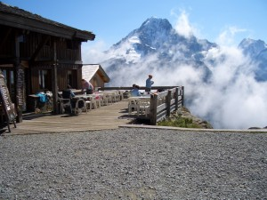 Lunchtime view from Lac Blanc