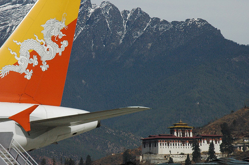 Druk Air in Bhutan Photo by Nathan Choe
