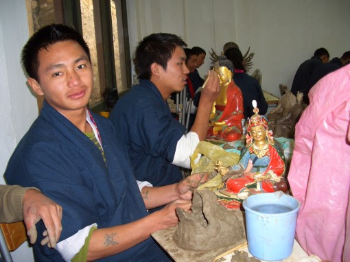 next, we visited the painting school, which offers 6-year courses offering instruction in Bhutan's traditional arts.
