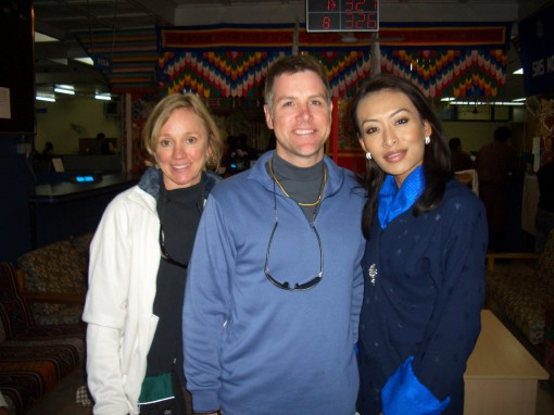 On a quick stop at the National Post Office, we ran into Miss Bhutan and were afforded a quick photo op and autograph!