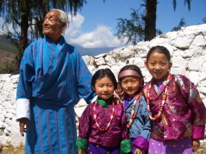 Family at the Paro Festival