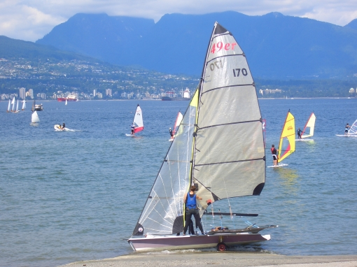 sails at Jericho Beach