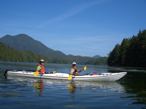 kayaking on Clayoquot Sound